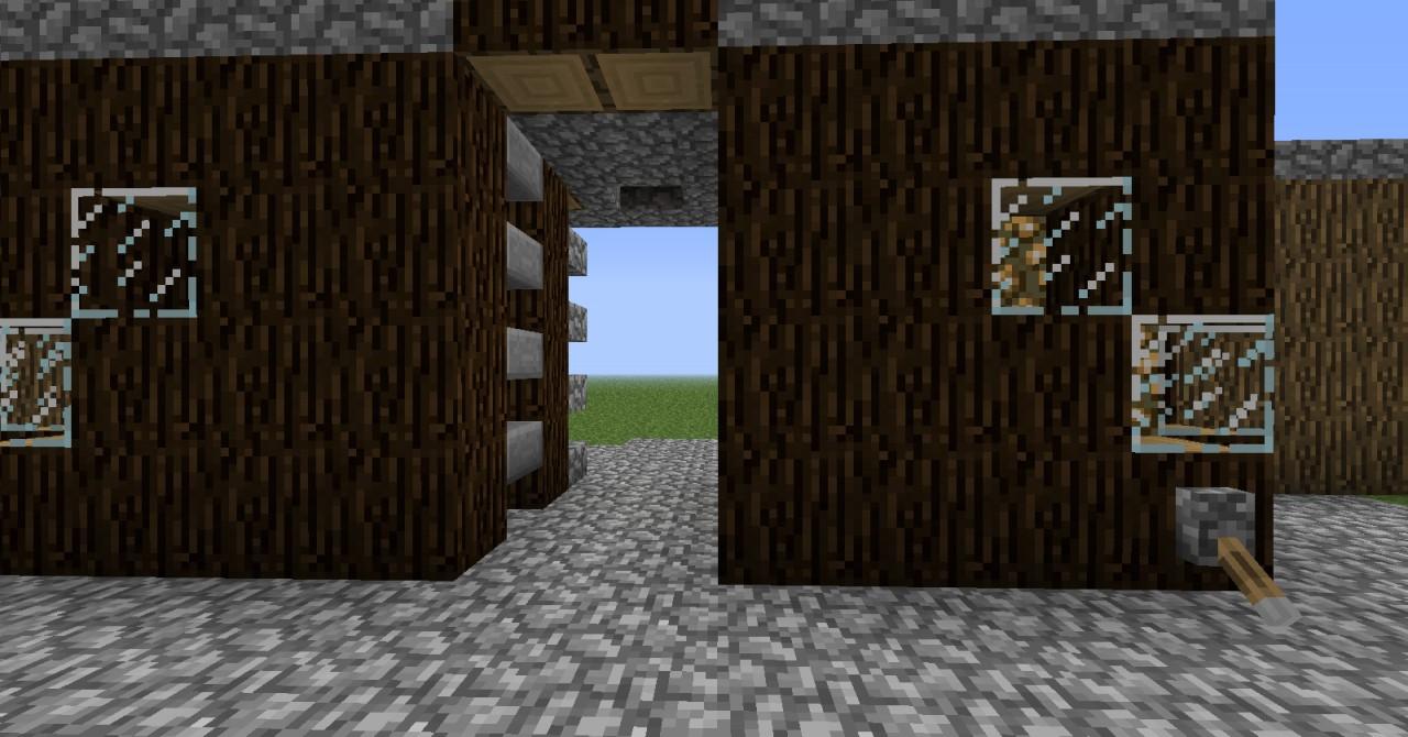 how to make a 2x2 piston door