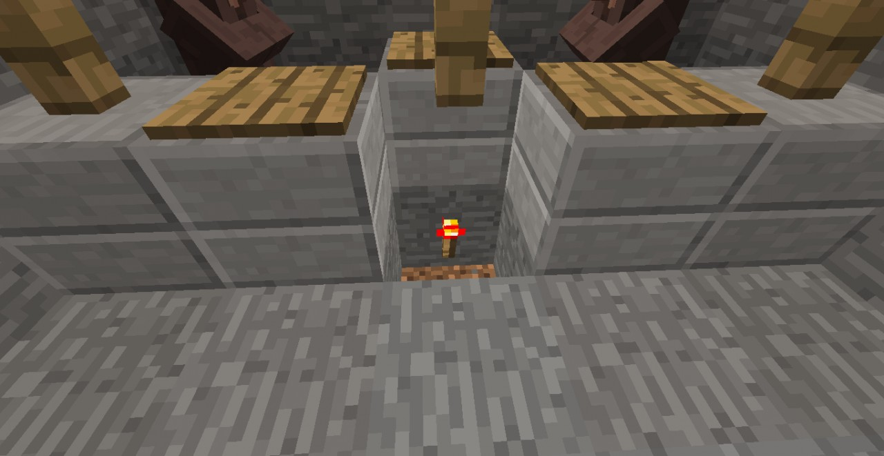 Step 7: Remove the center counter and place a redstone torch beneath...