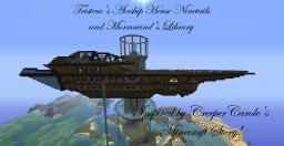 Tristem's airship house Ninetails and Morrowind's Library Minecraft