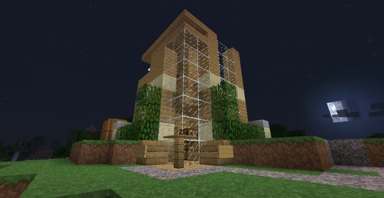Small modern house 6x6 minecraft project for Modern house 6x6