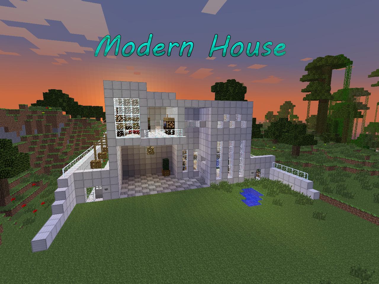 Minecraft modern house download
