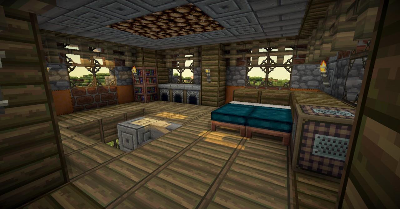 Minecraft white house inside the image kid has it - Minecraft interior design ...