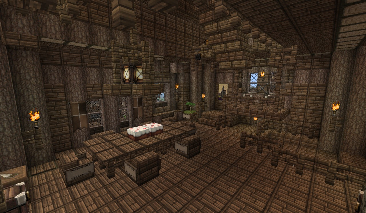 Medieval house 7 by heart craft minecraft project for Dining room minecraft