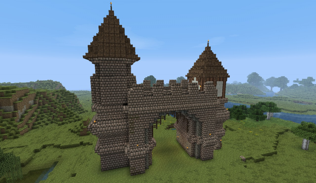 Medieval Town Entrance By Heart Craft Minecraft Project