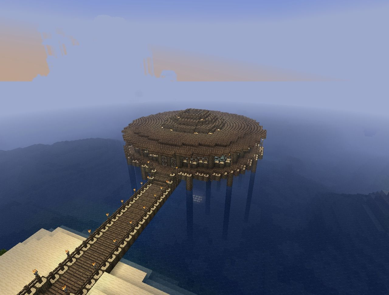 Mah new and improved beach house d minecraft project for Beach house designs minecraft