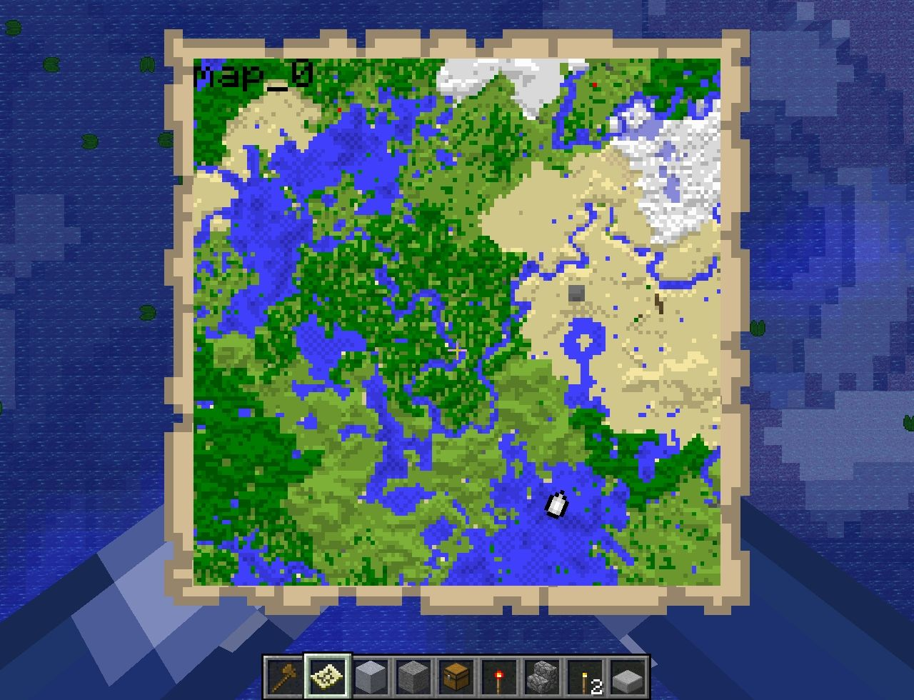 This map has a wonderful river running almost all the way though it! this map has the pawn at the center