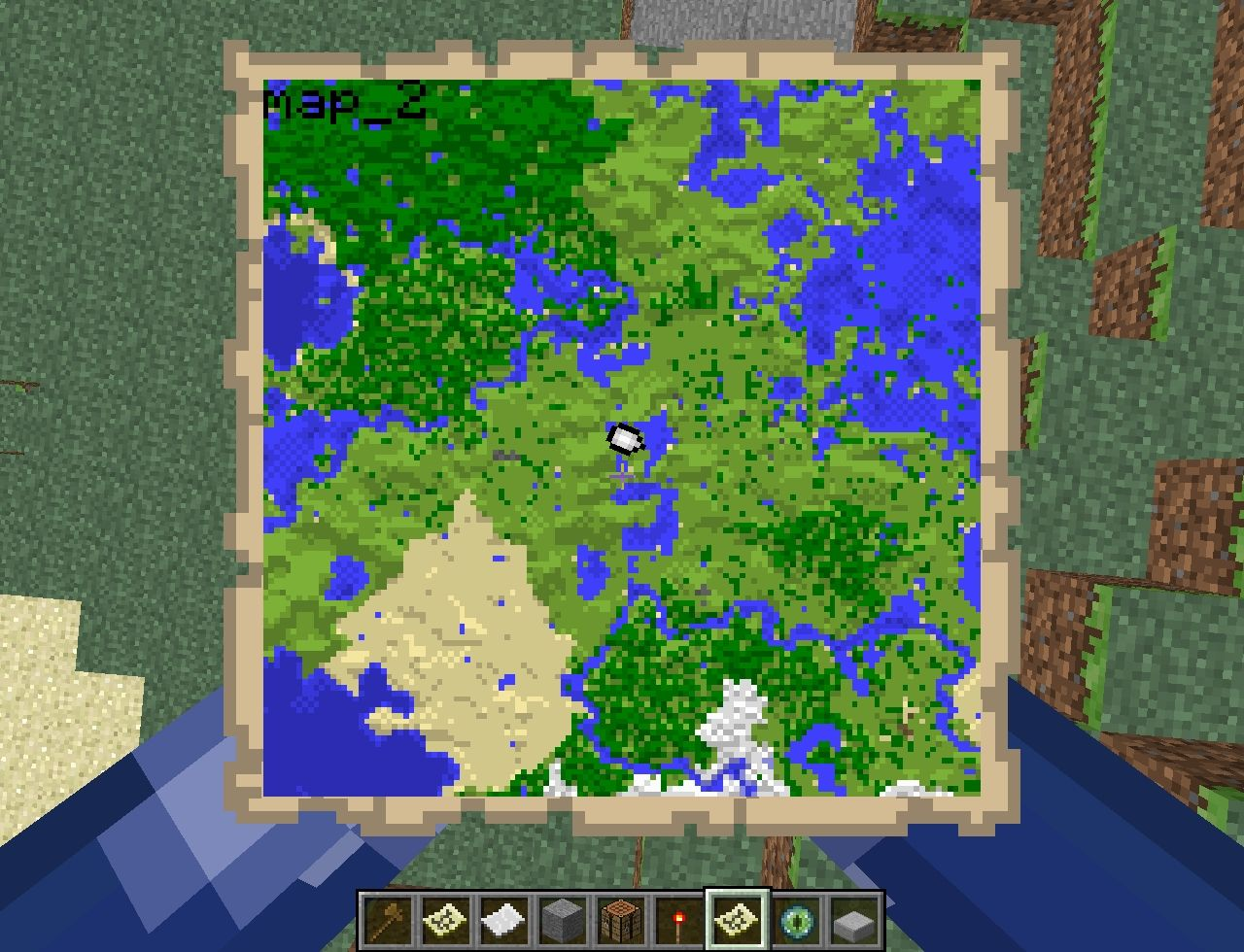 This map is to the imediant bottom of that map with the stonghold at the center