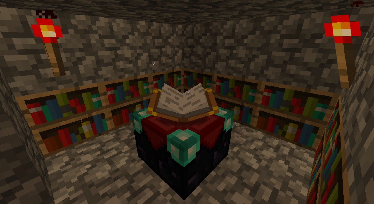 Setting Up Enchanting Room Minecraft