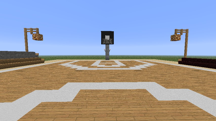 Outdoor basketball court minecraft project for How to build basketball court