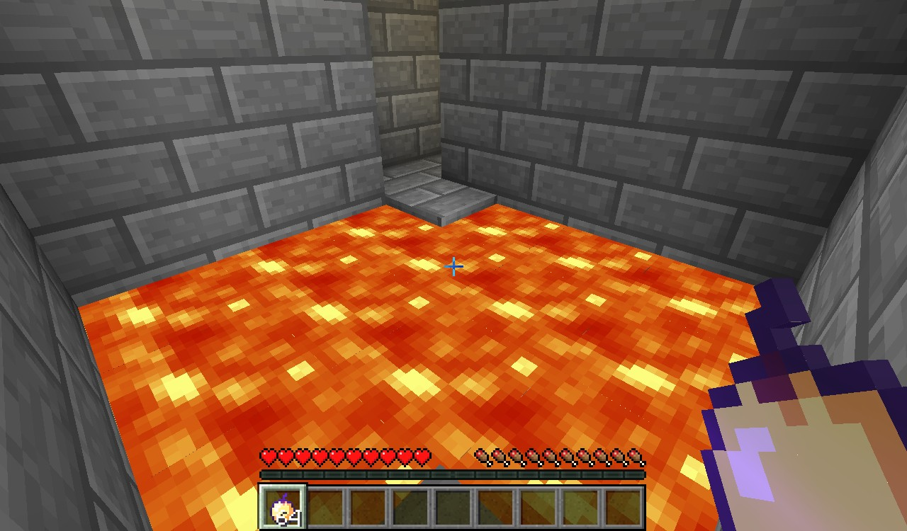 Another jump across a pit of lava.
