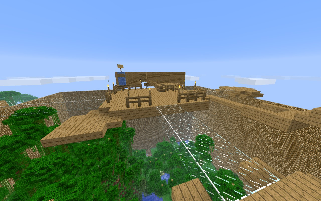 The main spawn over the arena