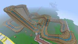 HUGE WOODEN ROLLARCOASTER: THE LEGACY 1rst in my theme park event! Minecraft Map & Project