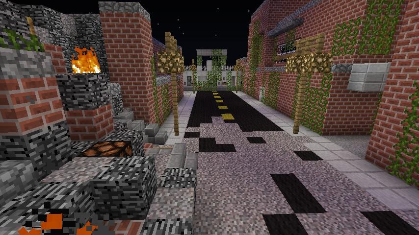 Destroyed street