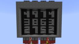 Mechanical Combination Lock Minecraft Project