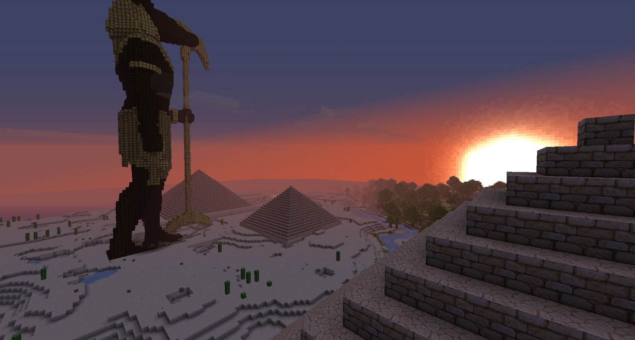 Anubis Large Statue Minecraft Project