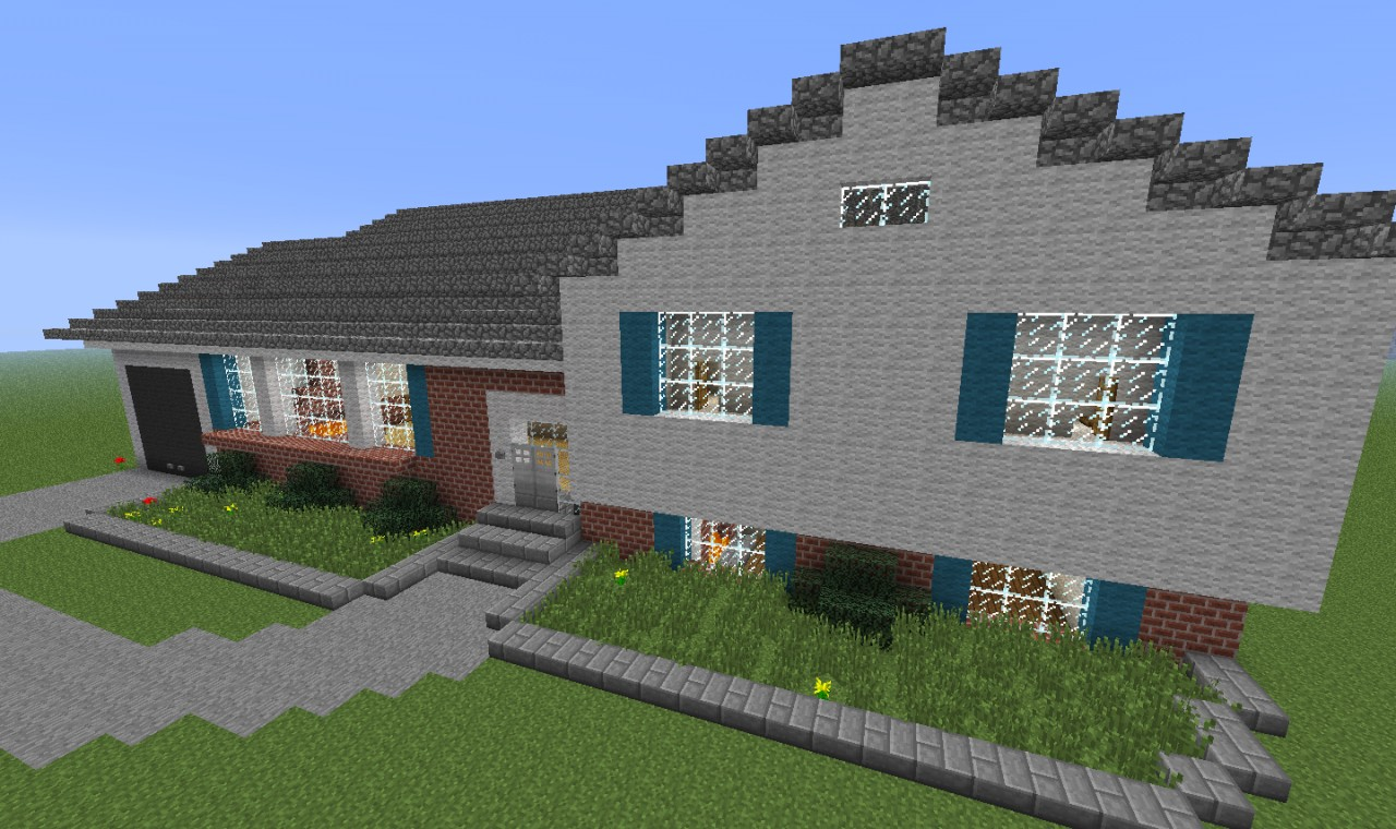 Paradise model homes the split level minecraft project for Split level project homes