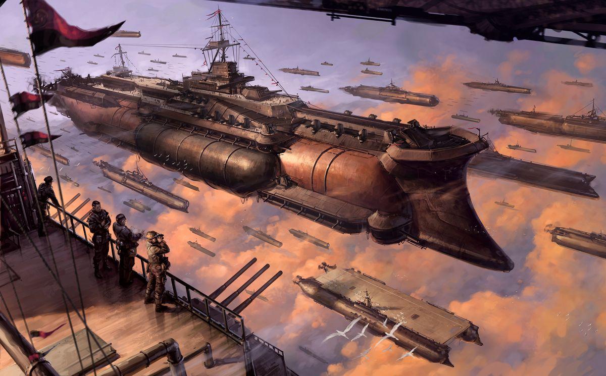Wonderful Wallpaper Minecraft Steampunk - Airships_2587580  Trends_685216.jpg