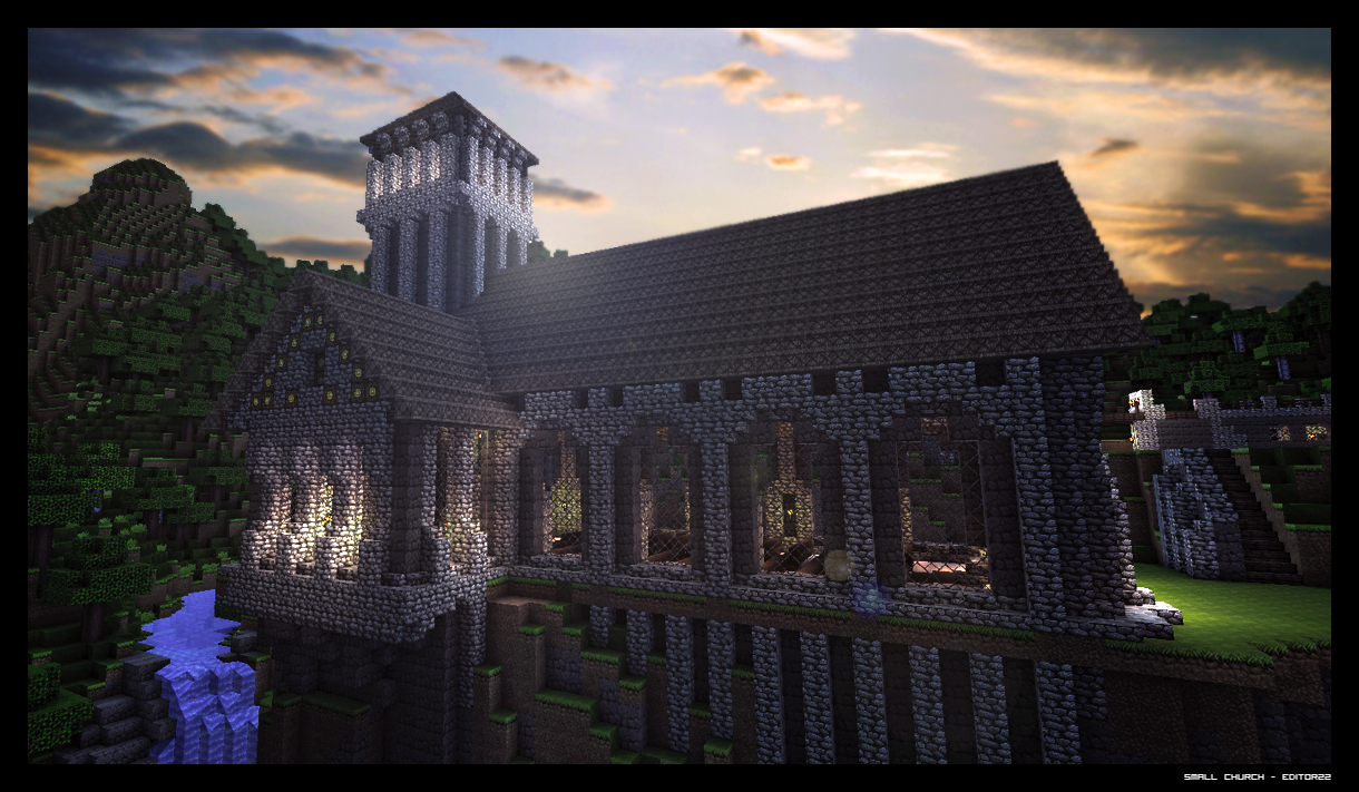 Small Medieval Church Minecraft Map