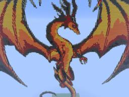 Firedragon Pixelart Minecraft Project