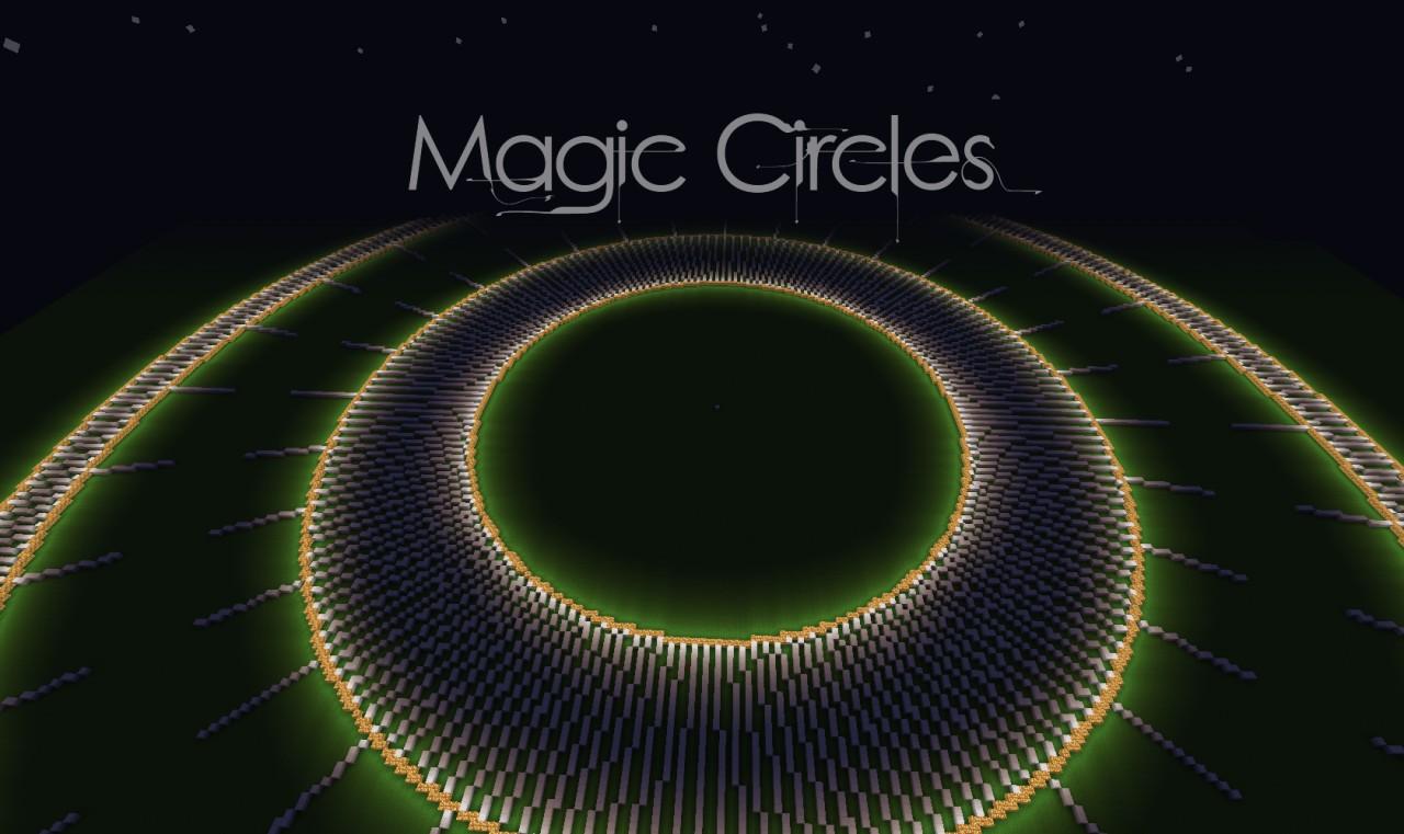 Magic Circles on Minecraft Wall Designs