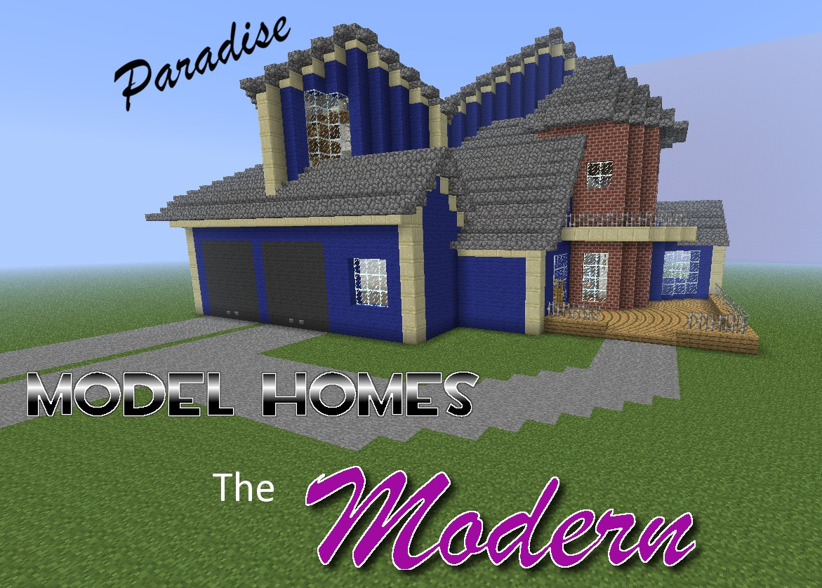 Paradise Model Homes The Modern Minecraft Project