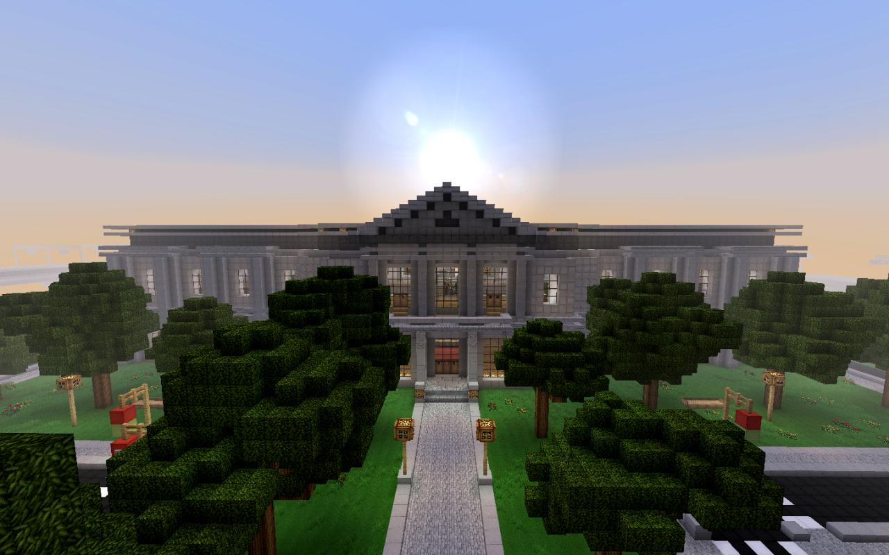 City Hall From New Crafton Wip Modern City Minecraft Project