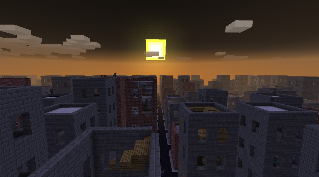 Beautiful horrible sad lifeless sunset in the After!