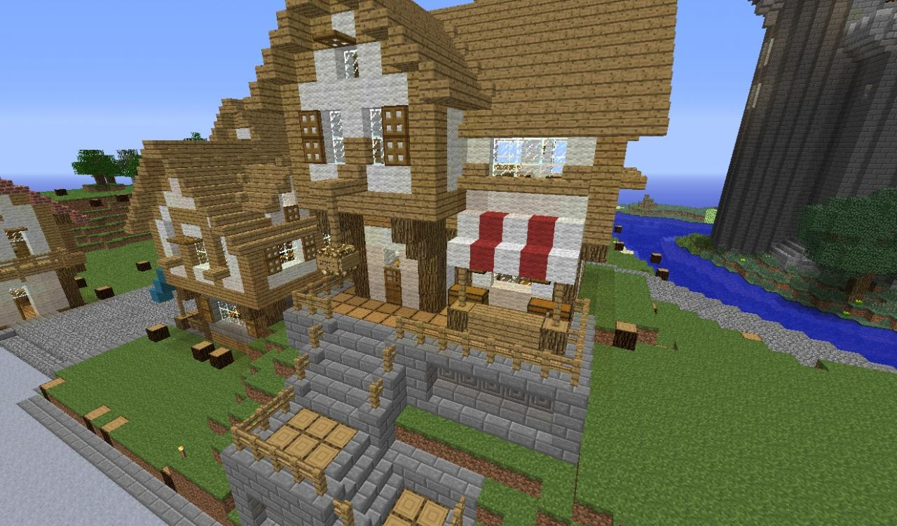 Medieval Shop and Market Builds Minecraft Map