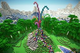 Volcano Rainbow Minecraft Map & Project