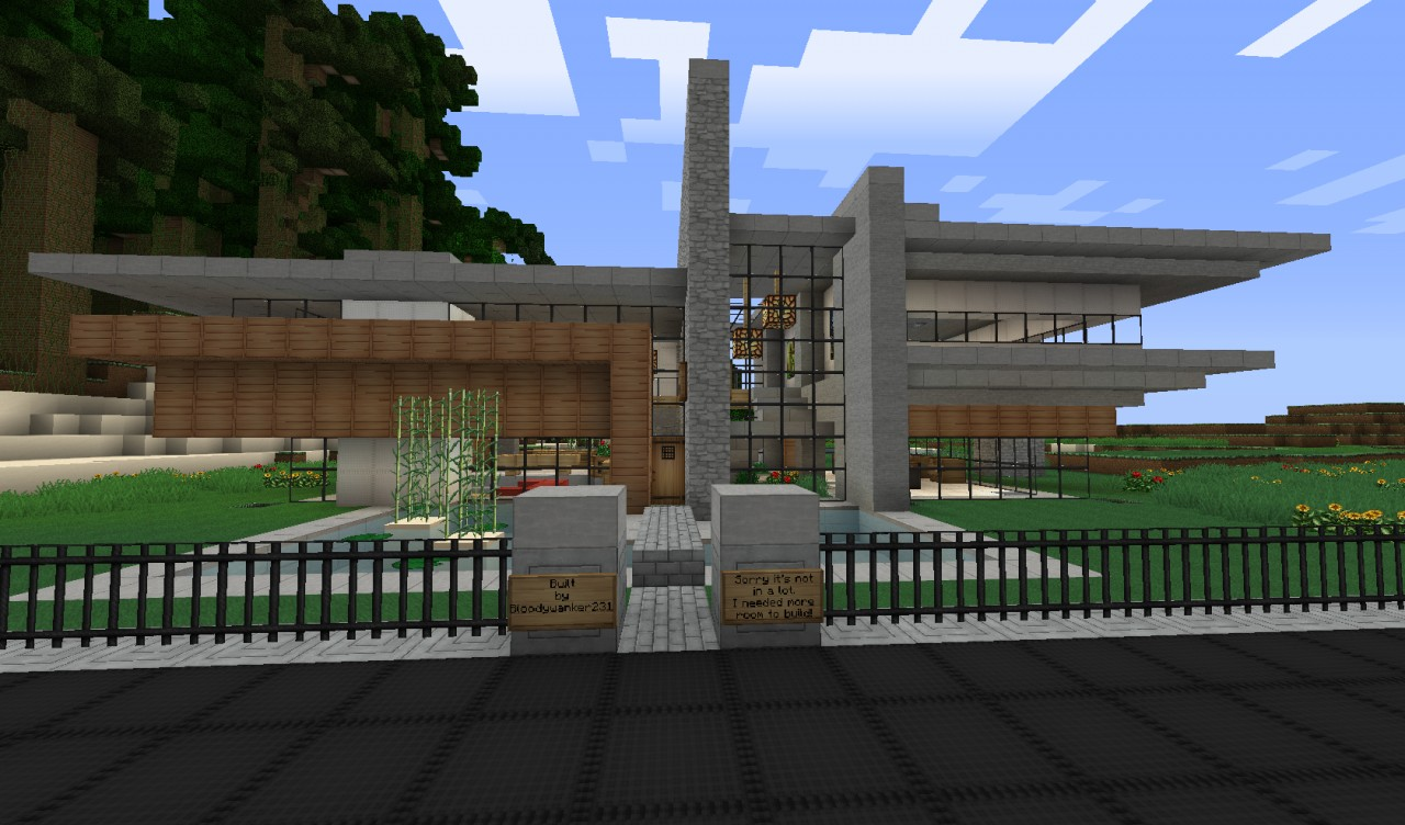 minecraft modernes haus keralis he ed Wood House -Word of Keralis server- Minecraft Project