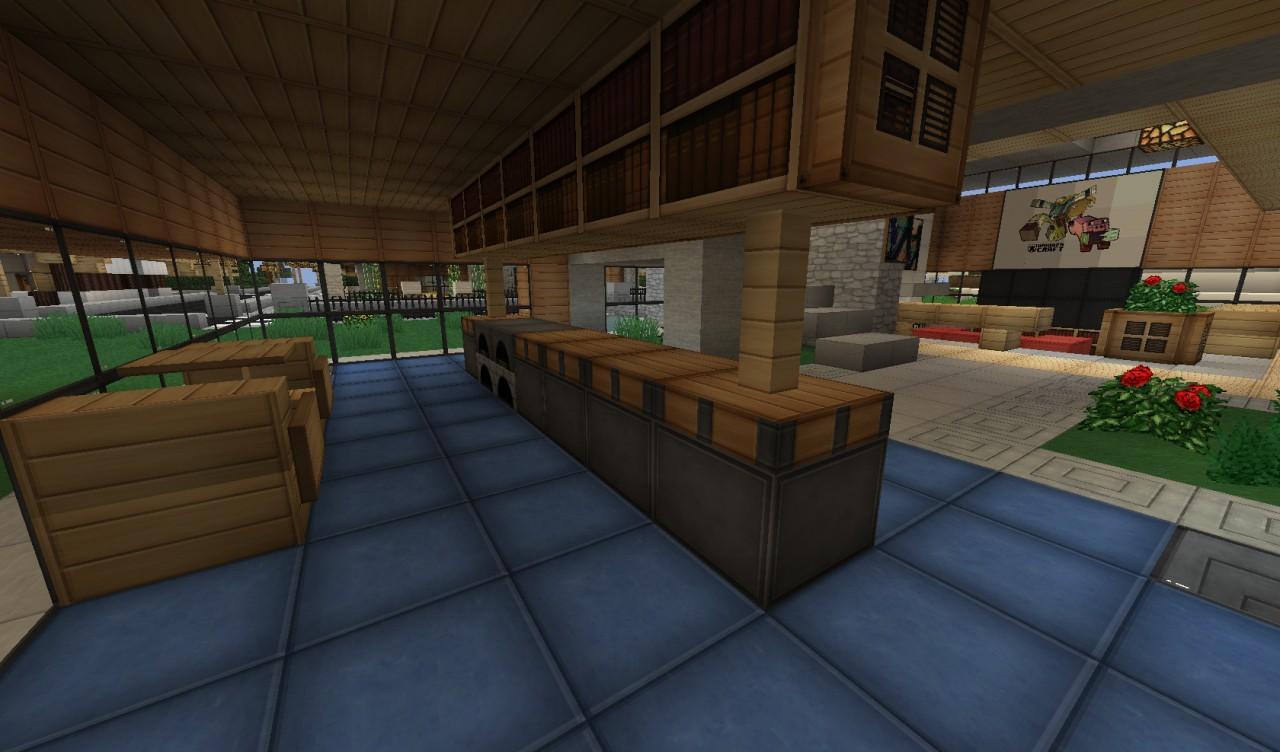 Minecraft modern kitchen for Kitchen ideas for minecraft