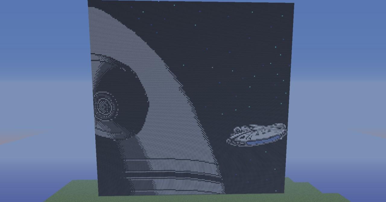 Star Wars Death Star Pixel Art Minecraft Project