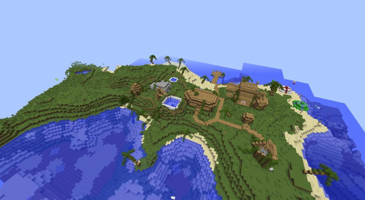 карта для майнкрафт 1.7.2 красивые большой остров #7