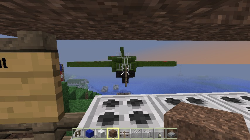 The AA gun and plane
