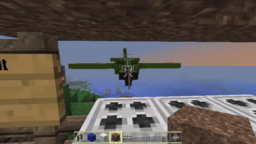 The AA gun and plane
