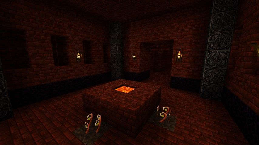 Normal minecraft nether, available in the Normal version