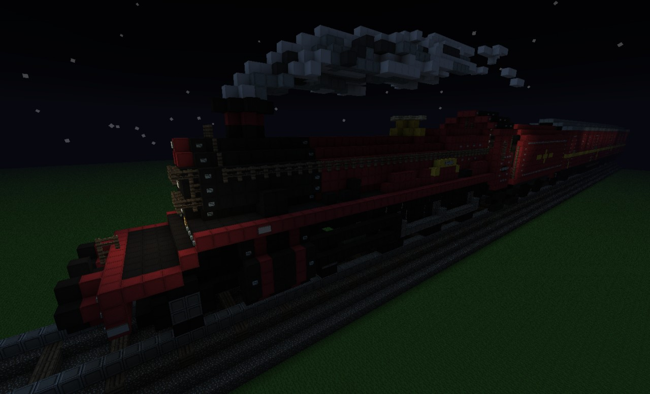 Hogwarts Express at night