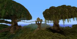 Minecraft Tree Houe, With Two HUGE Trees :D Minecraft Map & Project
