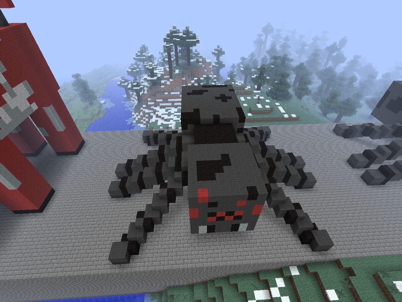 Spider Statue Minecraft Mob Statue Mine...