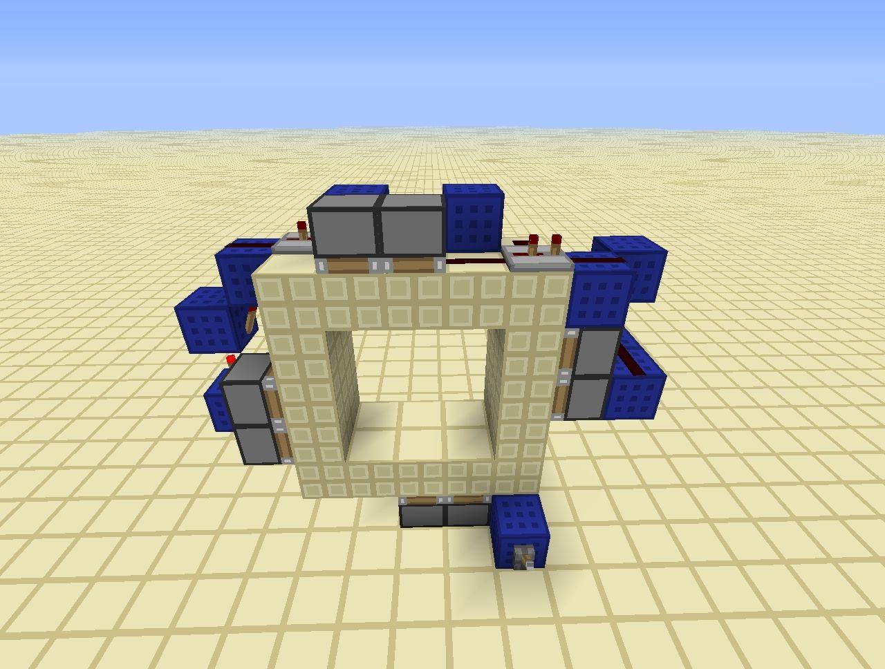 Minecraft Piston Door 3x3 Minecraft 3x3 Spiral Piston