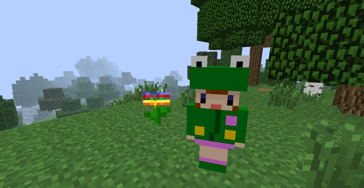 Rana and Rainbow Flower