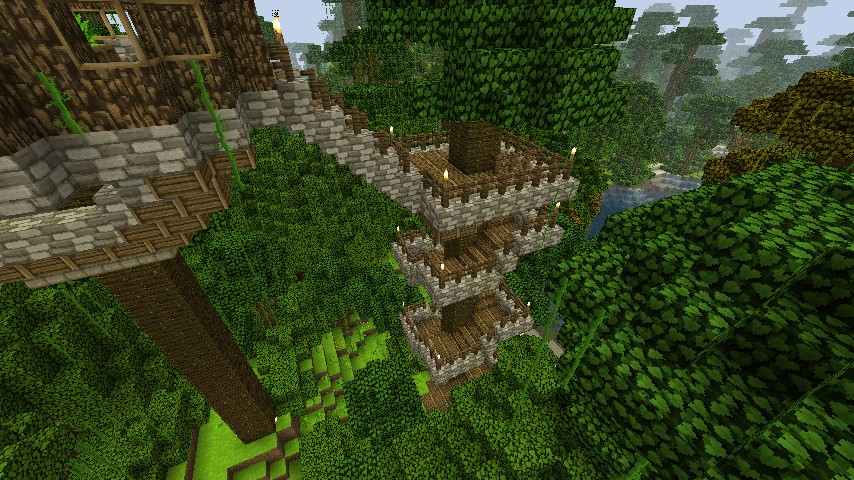 Jungle Tree Houses Updated Minecraft Project