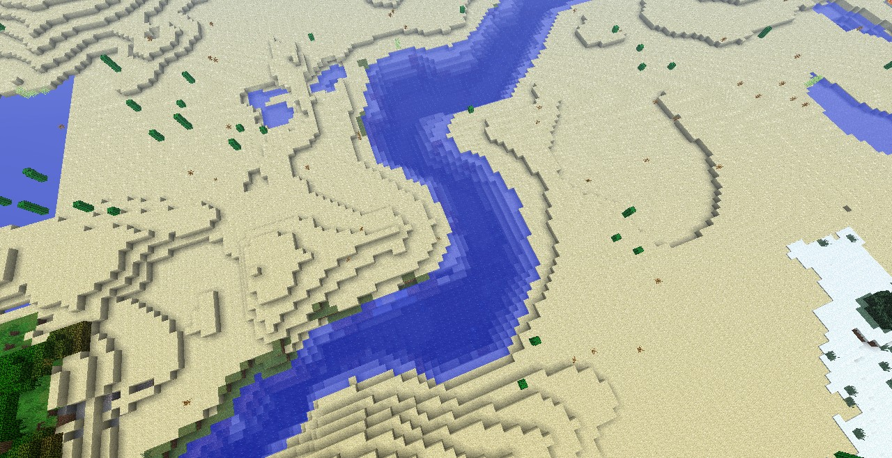Nile River With a Snow Biome