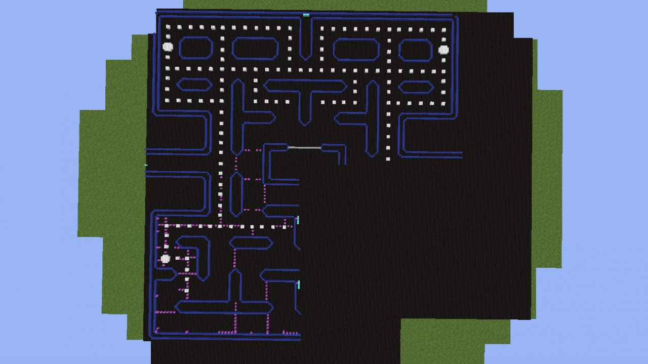 Pacman Pixel Art (Full Level) Minecraft Project