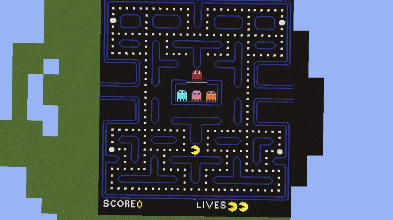 Pacman Pixel Art (Full level) Minecraft Project  Pacman Pixel Ar...