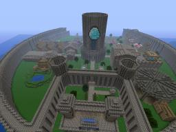 BubbaCraft Server Spawn [Bank With Combo Lock] [Train Station] [Castle And Keep] [Theme Park] Minecraft