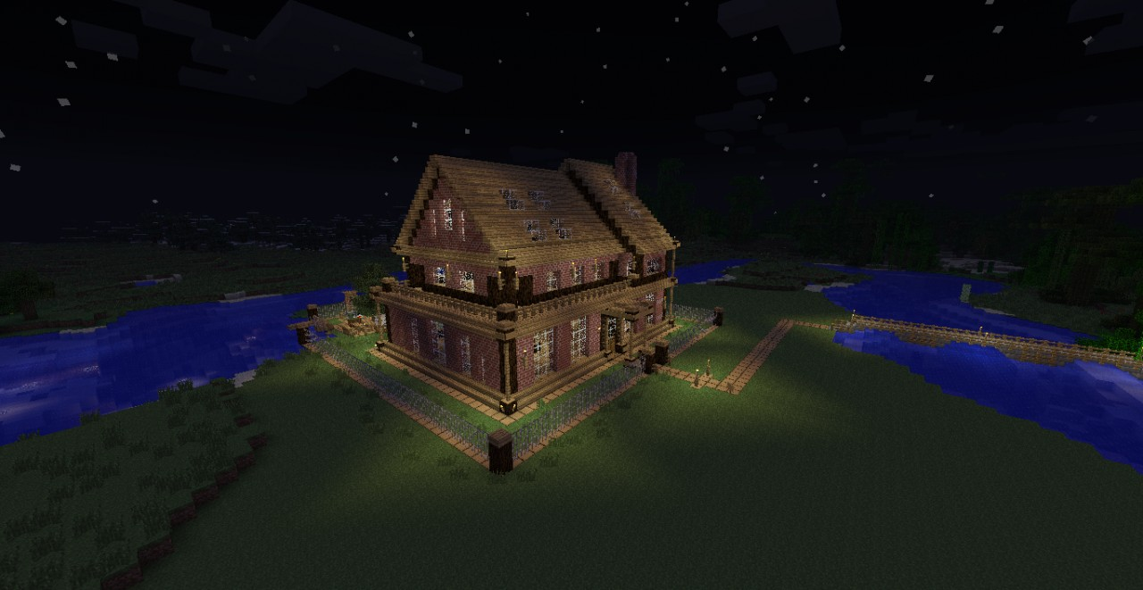 Awesome Wood Brick House    Minecraft Map