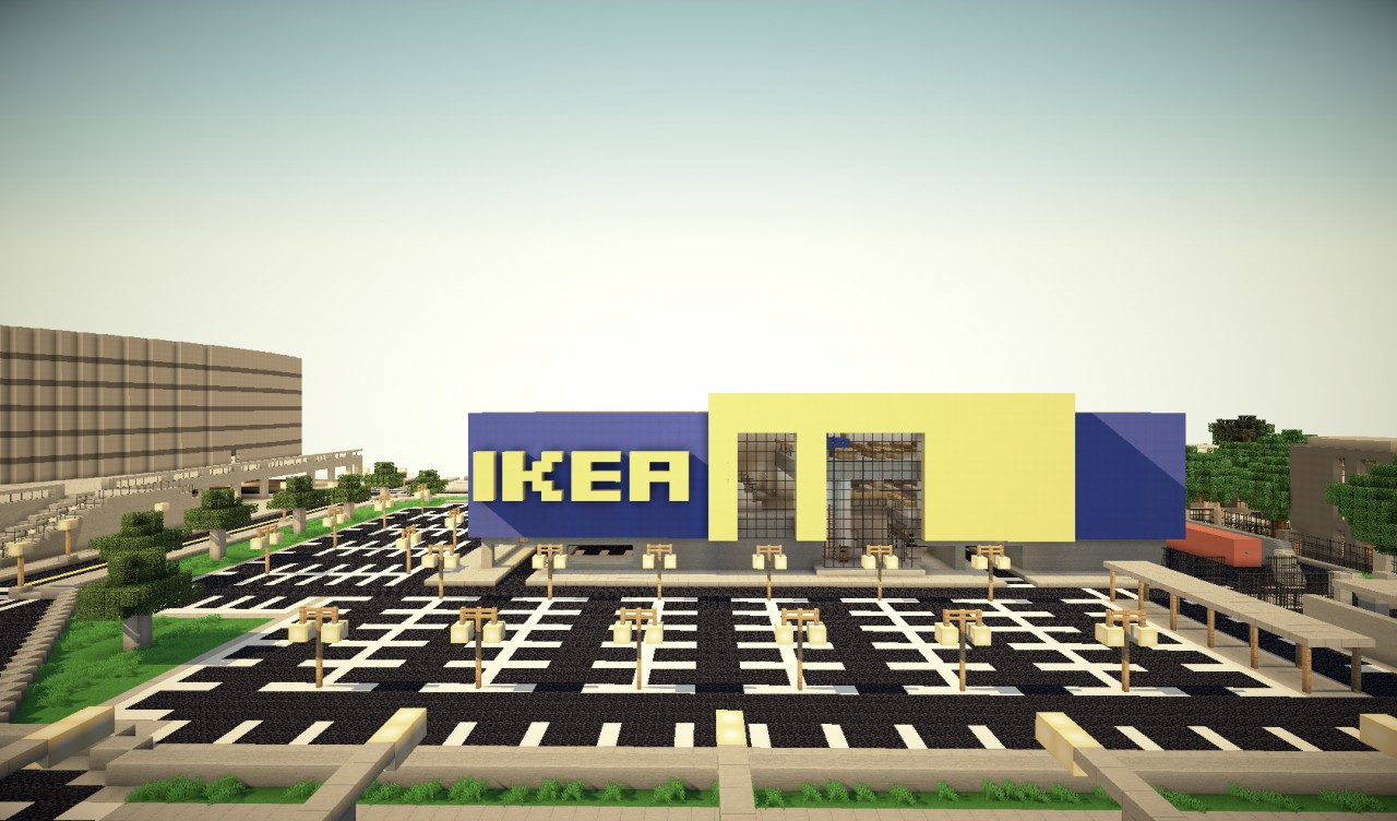 Ikea furniture store minecraft project for Furniture u save a lot