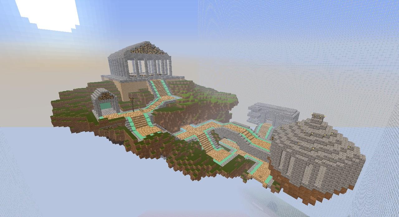 MOUNT OLYMPUS Minecraft Project - Olympus map