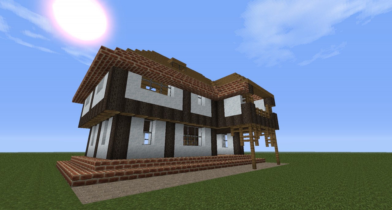 Brick and wool house Minecraft Project